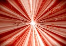 sunburst сердец Стоковая Фотография