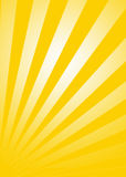 Sunburst. Effect in the yellow background royalty free illustration