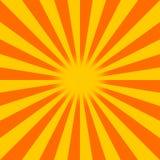 Sunburst. An orange and red abstract sunburst background Stock Photos