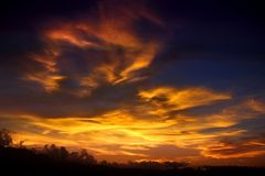 Sunburst. Dawn in Pagbilao, Quezon, Philippines Royalty Free Stock Image