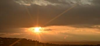 sunburst Royaltyfri Fotografi