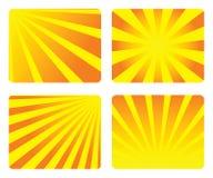 Sunburst abstract. Background set Stock Photos