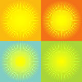 Sunburst abstract background. Shining sun rays. An abstract vector background Royalty Free Stock Photography