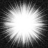 Sunburst. Abstract vector black and white halftone background Stock Photos