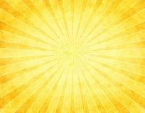 Sunburst amarelo no papel Imagem de Stock Royalty Free