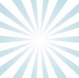 Sunburst azul e branco Fotos de Stock Royalty Free