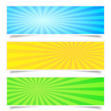Sunburst Backdrop Banner Set Stock Photo