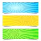 Sunburst Backdrop Banner Set Stock Photo