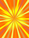 Sunburst background. Yellow and orange sunburst background design royalty free illustration