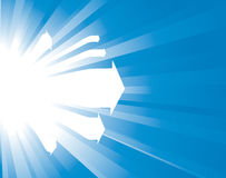 Sunburst background with arrows Stock Image