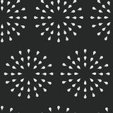 Sunburst background, ink hand drawn pattern. Seamless doodle background, chalkboard retro vector pattern, abstract illustration Stock Photography