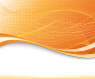 Sunburst background in orange color textured Stock Photography