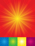 Sunburst backgrounds. With place for your text Stock Photography