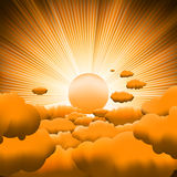Sunburst backgrouns template design. Stock Images