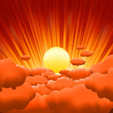Sunburst backgrouns template design. EPS 8 Stock Photography