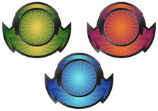 Sunburst badge Stock Photo