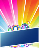 Sunburst banner. Colorful sunburst banner  illustration Stock Image