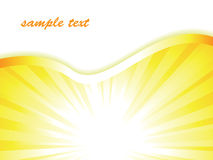Sunburst business vector background Stock Photography