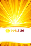 Sunburst card template Royalty Free Stock Photos