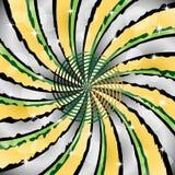 Sunburst with a center spiral. Sunburst wrinkled with a center spiral decorated with stars and transparent circles Royalty Free Stock Images