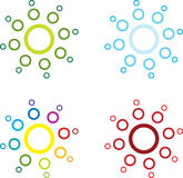 Sunburst circles Royalty Free Stock Image