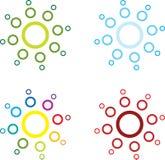 Sunburst circles vector illustration