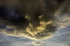 Sunburst. Cloud formation with light penetration of the sun Stock Photo