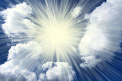 Sunburst clouds Royalty Free Stock Photography