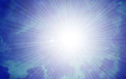 Sunburst clouds Royalty Free Stock Photo