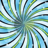 Sunburst com uma espiral center Fotografia de Stock Royalty Free