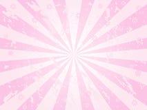 Sunburst cor-de-rosa do grunge Fotos de Stock