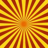 sunburst czerwony kolor żółty Zdjęcia Stock