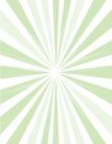 Sunburst da luz verde Ilustração Royalty Free