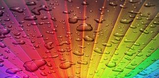 Sunburst do arco-íris através da tempestade foto de stock