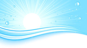 Sunburst do azul de Abstrackt Imagens de Stock