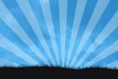 Sunburst do céu Fotos de Stock Royalty Free