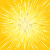 Sunburst e raias Fotos de Stock