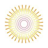 Sunburst emblem isolated icon Royalty Free Stock Image
