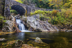 Sunburst Falls, North Carolina. Sunburst Falls under North Carolina's Highway 215 near the Blue Ridge Parkway Stock Photography