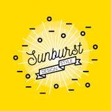 Sunburst Flat Design Royalty Free Stock Image