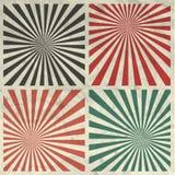 Sunburst Grunge Background Set on Crumpled Paper Stock Image