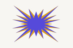 Sunburst. This is a sunburst illustration that is purple and gold. Could be used for a for sale tag or bargain sign. This was made in Photoshop royalty free illustration