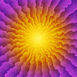 Sunburst Kaleidoscope Stock Image