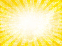 sunburst kolor żółty Obraz Royalty Free