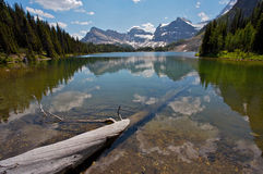 Sunburst Lake Rocky Mountains. Sunburst Lake in Assiniboine Provincial Park, British Columbia, Canada Stock Image