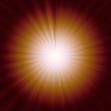 Sunburst på orange bakgrund Arkivfoto