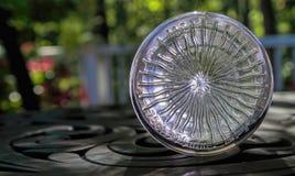 Sunburst Pattern in Heavy Glass Royalty Free Stock Photography