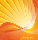 Sunburst with a place for your text Royalty Free Stock Photos