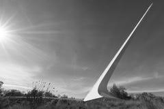 Sunburst przy Sundial mostem w Redding, CA zdjęcie stock