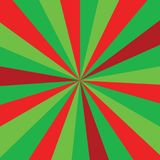 Christmas or new year colored sunburst ray  pattern with red and green diagonal line, stripes background. Sunburst ray  Christmas or new year colored pattern Royalty Free Stock Images